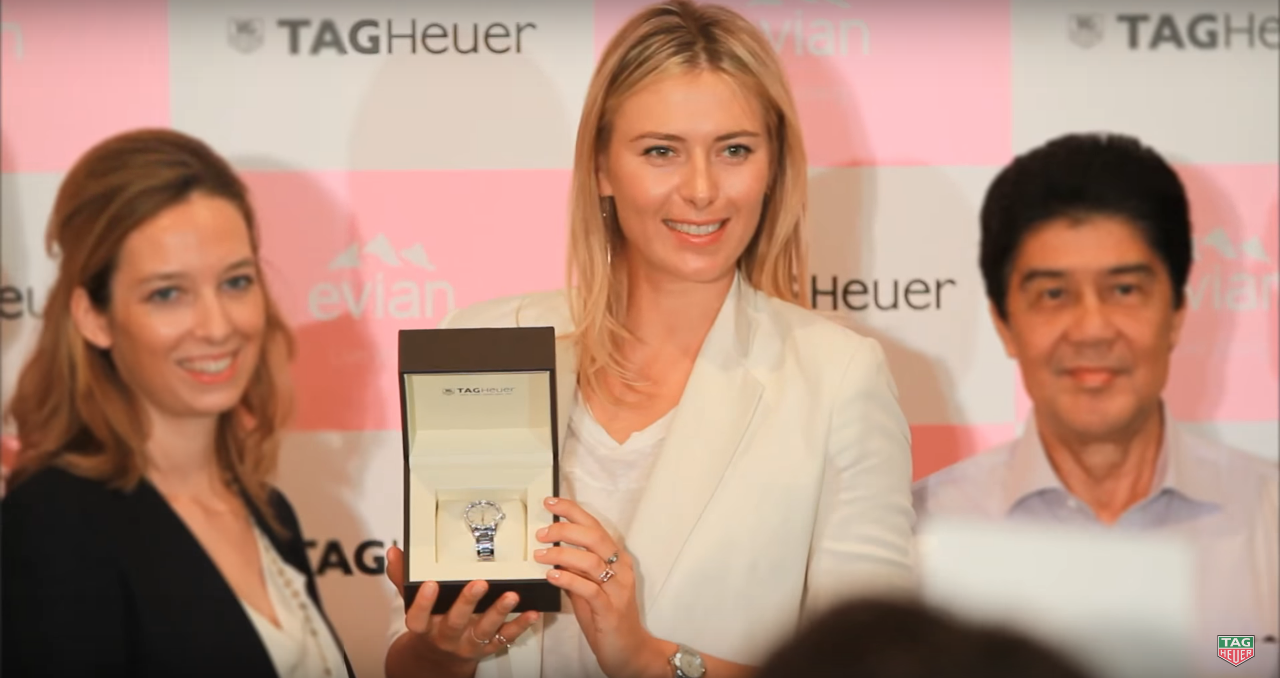 Maria Sharapova Brand Endorsements Sponsors Partners Brand Ambassador List TAG Heuer