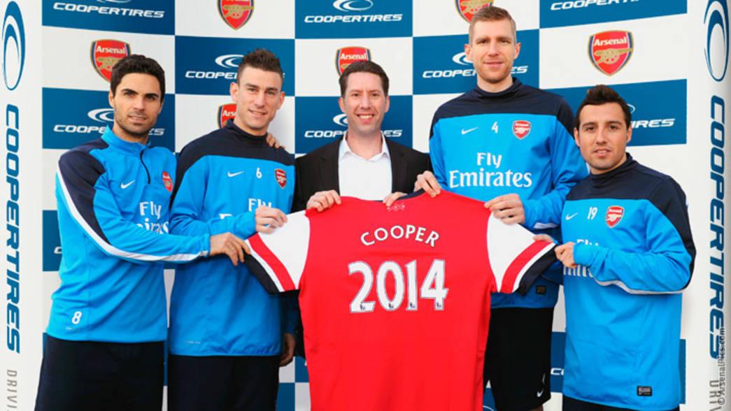 Arsenal FC Football Club Sponsors Partners Sponsorships Partnerships Brand Endorsements Cooper Tire Europe