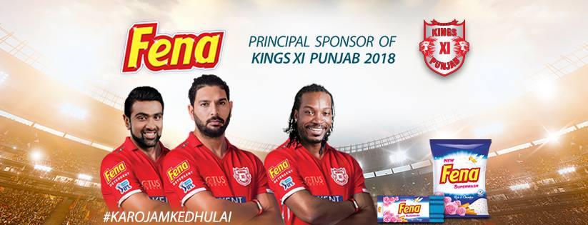 Kings XI Punjab Official Sponsors List Partners Brand Ambassador Logos On Jerseys Fena