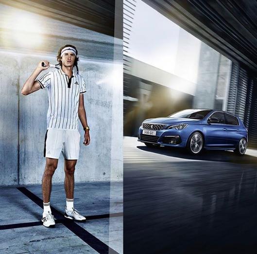 Alexander Zverev Brand Endorsements Brand Ambassador Advertisements Associations Sponsors Partners Peugeot