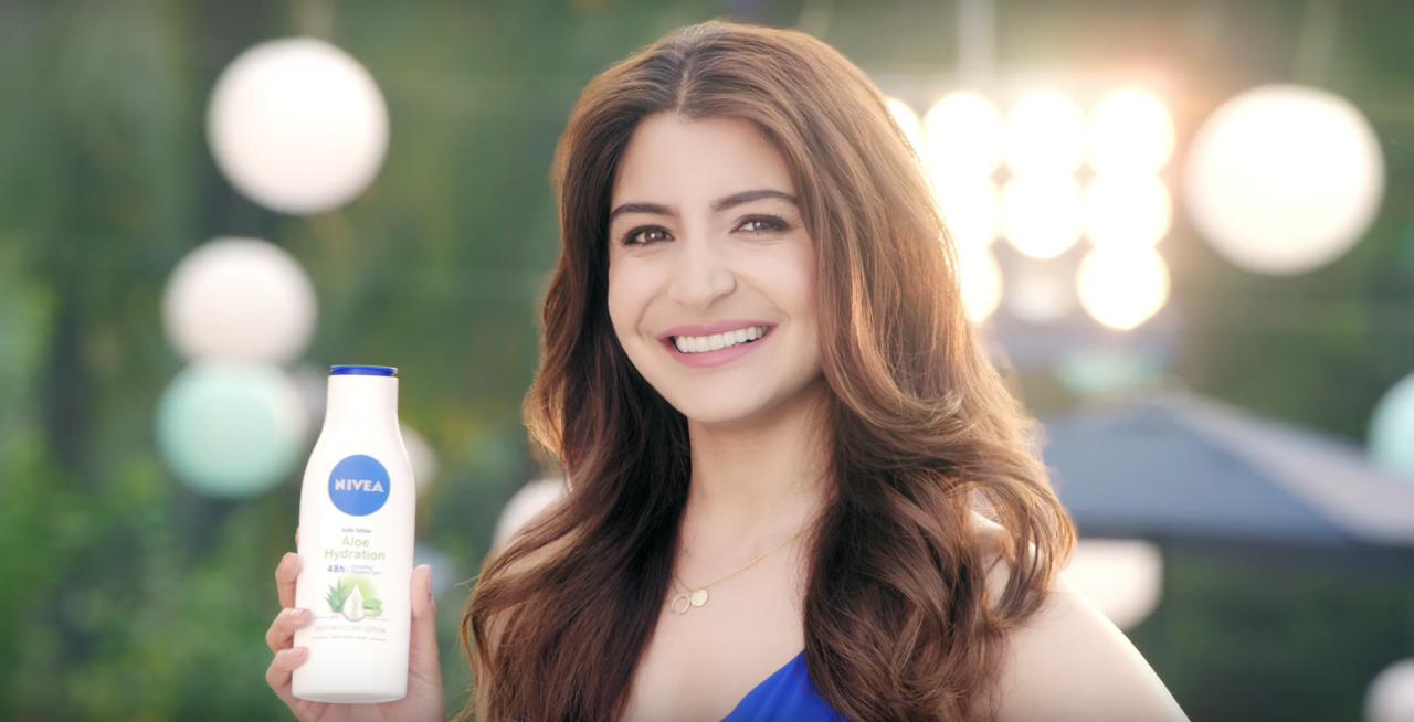 Anushka Sharma Brand Endorsements Brand Ambassador Promotions TVC Advertisements List Nivea