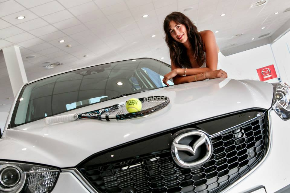 Garbiñe Muguruza - Mazda Luxury cars endorsed advertised promoted driven by tennis male female players sports sponsors list