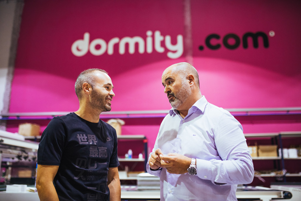 Andres Iniesta Brand Endorsements Brand Ambassador Sponsorship Partners Advertising TVC Spain Barcelona Dormity.com