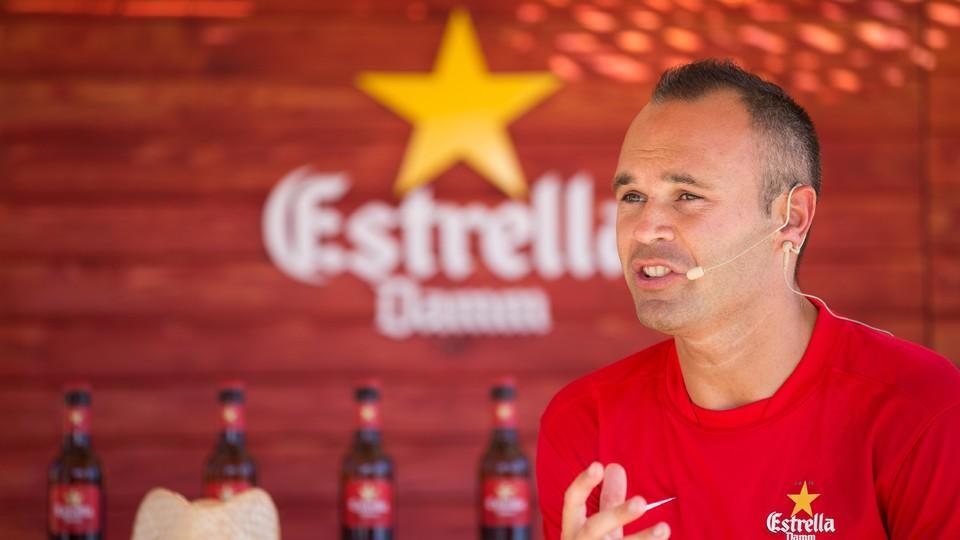 Andres Iniesta Brand Endorsements Brand Ambassador Sponsorship Partners Advertising TVC Spain Barcelona Estrella Damm