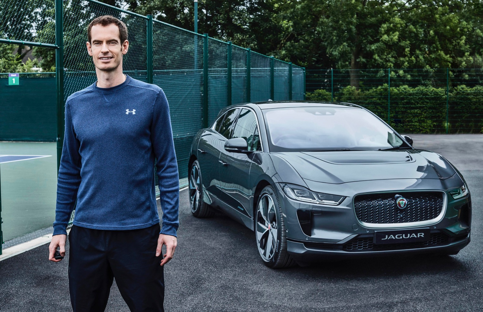 Luxury cars endorsed advertised promoted driven by tennis male female players sports sponsors list Andy Murray Jaguar