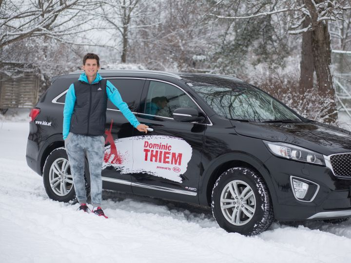 Luxury cars endorsed advertised promoted driven by tennis male female players sports sponsors list Dominic Thiem - Kia Motors