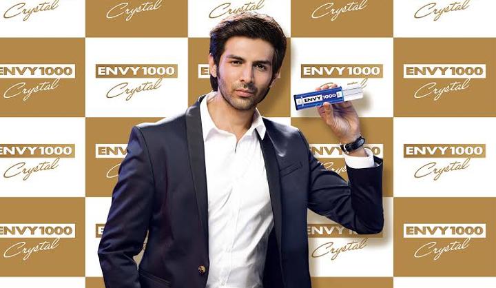 Kartik Aaryan Brand Associations/Brand Ambassador/Endorsement/Advertising/TVCs/Promotions list deodorant Envy 100 Crystal