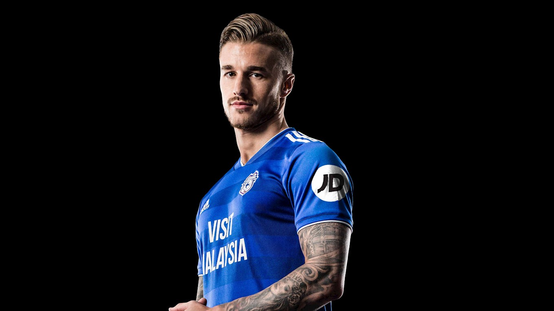 Cardiff City JD Shirt Sleeve Sponsor Logo Brand Premier League Football Clubs