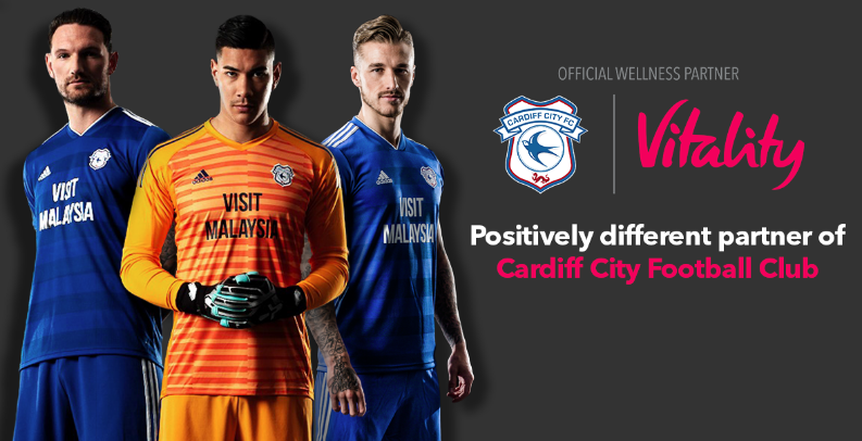 Cardiff City Partners Sponsors Brands Logo Stands Advertising Vitality