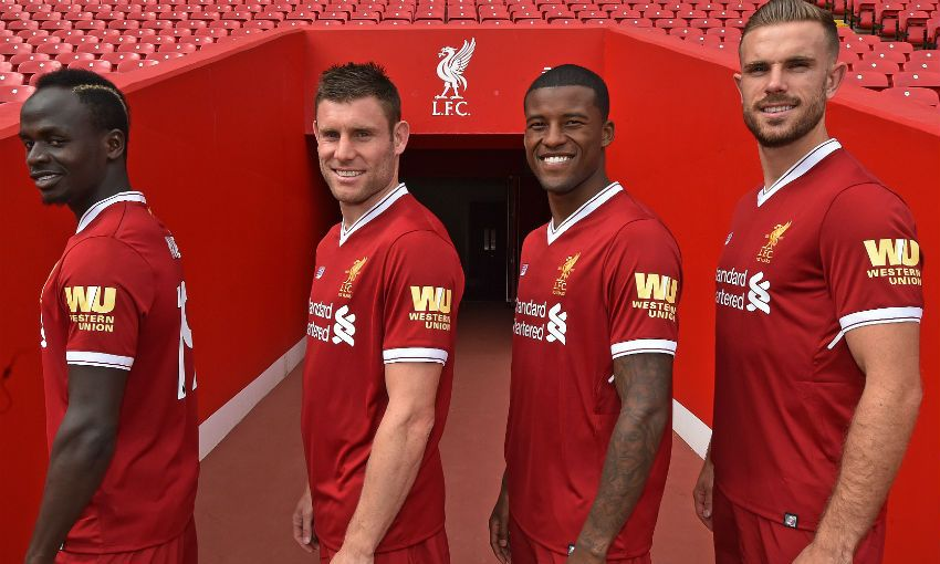 Liverpool Western Union Shirt Sleeve Sponsor Logo Brand Premier League Football Clubs