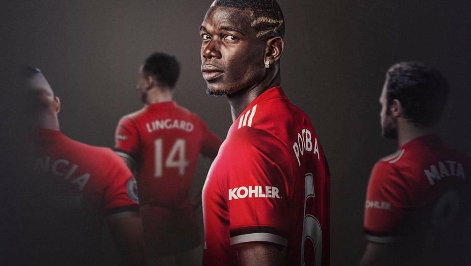 Manchester United Kohler Shirt Sleeve Sponsor Logo Brand Premier League Football Clubs
