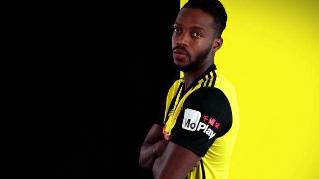 Watford MoPlay Shirt Sleeve Sponsor Logo Brand Premier League Football Clubs