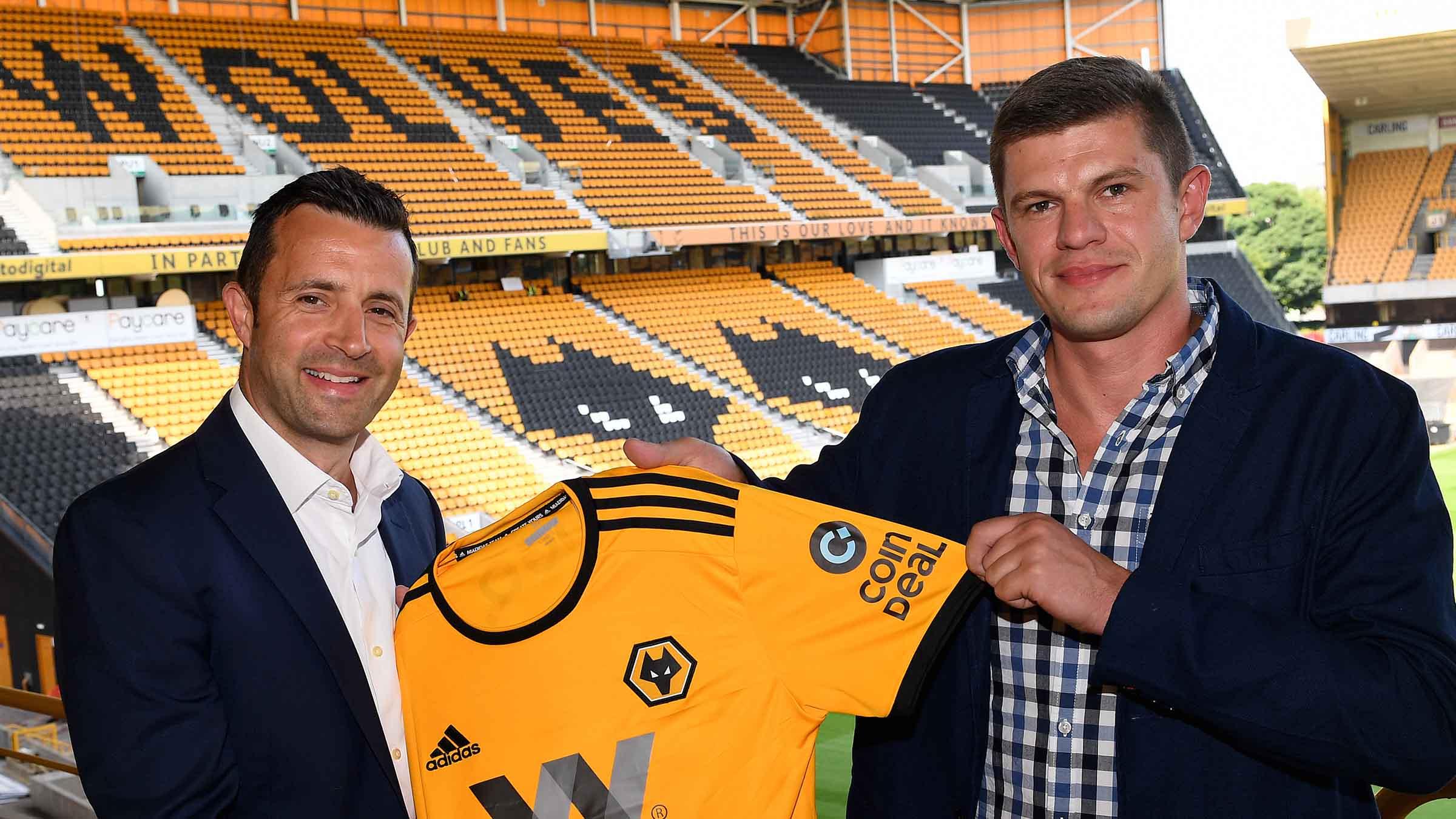 Wolverhampton Wanderers Coin Deal Shirt Sleeve Sponsor Logo Brand Premier League Football Clubs