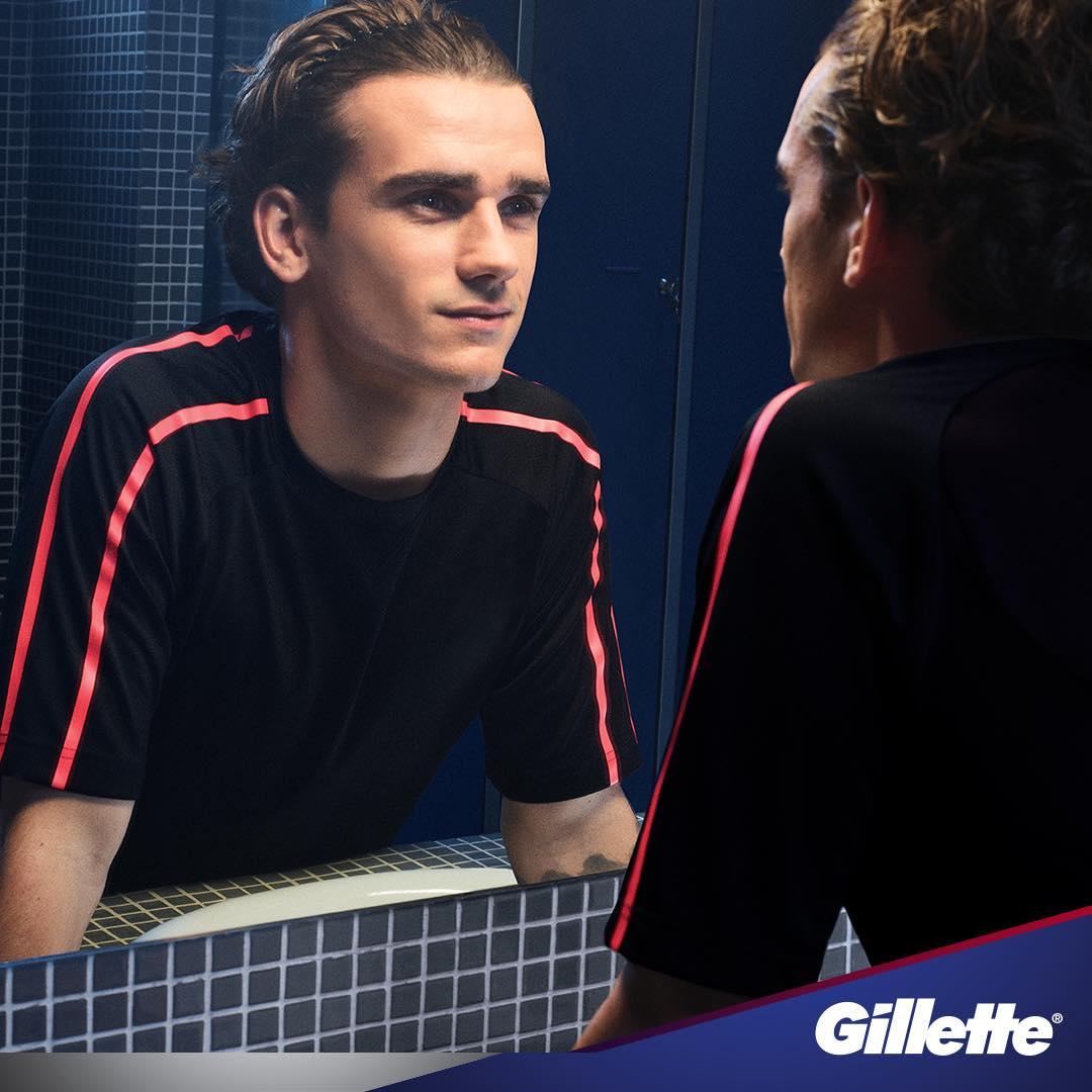 Antoine Griezmann Sponsors Brand Endorsements Brand Ambassador Personal Sponsorship deals list french footballer Gillette shaving razor cream