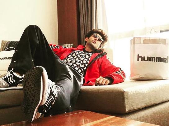 Kartik Aaryan Brand Associations/Brand Ambassador/Endorsement/Advertising/TVCs/Promotions list Hummel sportswear shoes clothes