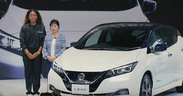 Luxury cars endorsed advertised promoted driven by tennis male female players sports sponsors list Naomi Osaka Nissan