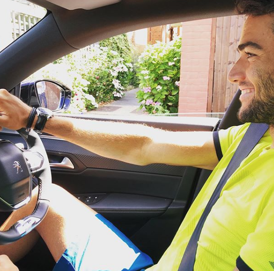 Luxury cars endorsed advertised promoted driven by tennis male female players sports sponsors list Matteo Berrettini